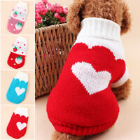 Winter Dog Clothes Warm Sweaters Small Dogs Pet Clothing Coat Knitting Crochet