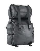 2PC LARGE SISSY BAR BARREL TOURING BAG Genuine Leather Bag universal Fit