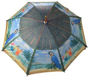CLIFTON Umbrella - Island Dreams -Full Size Artbrella - Wood Shaft & Handle