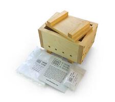 "Tofu Maker Kit ""R"" 500 g, handmade in London, tofu Press + chiffon + nigari"