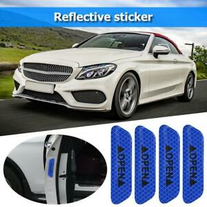 4X Car Door Open Sticker Reflective Cover Tape Safety Warning Decal Universal
