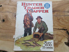 1930 Hunter Trader Trapper Magazine Remington Harley Davidson Rifle Fur Trap Ads