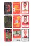 9 cartes, VIBREZ avec les rouges ! Carrefour, 2020 Belgique