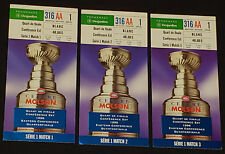 1996 - MONTREAL CANADIENS MOLSON CENTER - STANLEY CUP PLAYOFF - TICKET STUBS (3)