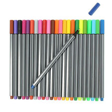 24 Colors Washable Watercolor Pens Marker Painting Manga Sketch Drawing Kids