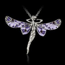 Elegant Angel Beauty Tibetan Silver Pendant Necklace Sweater Chain Women Jewelry