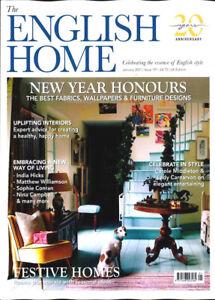 THE ENGLISH HOME MAGAZINE JANUARY 2021 ~ NEW ~