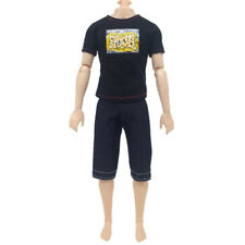Black T-Shirt Suit for Ken Doll Toy 2-Piece Suit Kids Doll Cloth Children ToysSC
