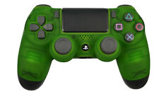 Custom Soft Touch Clear Green Sony Dualshock Playstation PS4 Wireless Controller