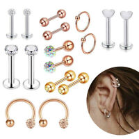 Stainless Steel Fashion Body Jewelry Helix Piercing Ear Nose Lip Captive Rings