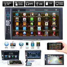 """6.6"""" Double 2DIN Car Stereo Radio Bluetooth Touch Audio MP3 Player FM USB AUX TF"""