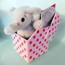 Mini peluche éléphant *-* GENTILLE NOURRICE *-* dans boite cadeau