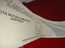 TOYOTA LANDCRUISER 78 SERIES RV STRIPE DECAL DARK DRIVERS FRONT NEW GENUINE