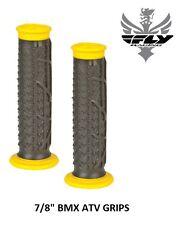 "Fly Racing Pilot  II Grips Black Yellow 7/8"" Handlebar Race BMX Bicycle Bike"