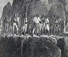 Antique print British punitive Expedition to Abyssinia 1870 Theodore II Ethiopia