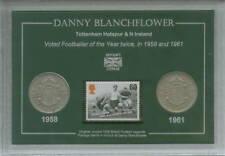 Danny Blanchflower Tottenham Hotspur Espuelas Irlanda Del Norte Moneda Estampilla Conjunto de Regalo