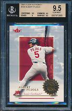 Albert Pujols Angels 2001 Fleer Authority #102 Rookie Card rC BGS 9.5 Gem QTY