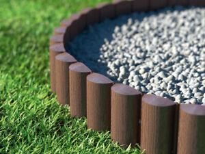 Garden Palisade Edging Border Edge 2.4m Log Roll Lawn Flowerbed Wood Texture UK