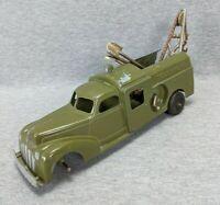Hubley Kiddie Toy Bell Telephone Truck 478 Crane 3 Shovels