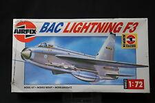 XK220 AIRFIX 1/72 maquette avion BAC LIGHTNING F 3 Ref 02080 serie 2 1990 NB