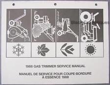 1988 MTD Gas Trimmer Service Parts Manual Lawnflite Trim-all, Brush Cutter