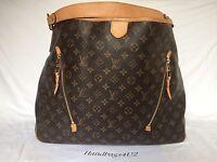 Authentic Louis Vuitton Monogram Delightful GM Hobo Shoulder Bag