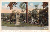 WASHINGTON DC  FRANCISCAN MONASTERY~WAY OF THE CROSS~TENTH STATION POSTCARD