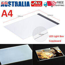 A4 LED Artist Thin Art Stencil Board Light Box Tracing Drawing Board Table AU