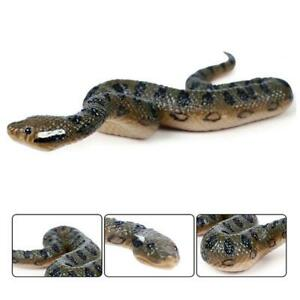 Fake Realistic Rubber Toy Snake North Us Green Scary Anaconda Halloween Props
