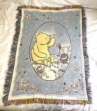 Classic Winnie the Pooh Piglet Throw Blanket Nursery Disney Wall Tapestry 46x34
