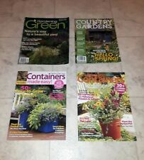 Gardening Magazines Lot Gardening Green Country Garden Gate Containers Made Easy