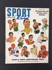 Autographed Maurice Richard Sport Magazine Cover Hockey Picture Vintage Signed