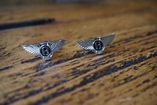 BENTLEY CHROME CUFFLINKS GREAT QUALITY NEW FREE POUCH