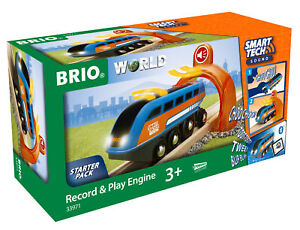 BRIO 33971 Smart Tech Sound Record & Play Engine Train Battery Powered Railway