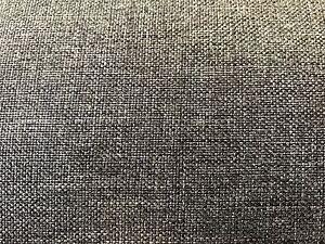 Grey textured flat weave fabric for reupholstery caravan sofa etc