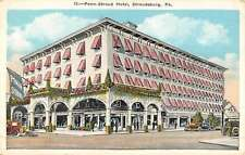 Stroudsburg Pennsylvania Penn Stroud Hotel Street View Antique Postcard K44232