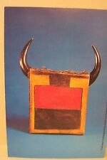 NATIVE AMERICAN INDIAN POSTCARD, UNUSED, CHIEF SITTING BULL'S  DRUM, REAR VIEW