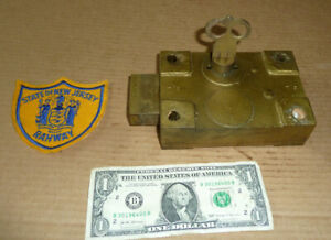 Vintage Jail Brass Lock & Key,NJ State Rahway Prison,Obsolete,Guard Retired Souv