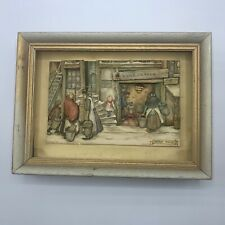 Vintage Anton Pieck 3D Shadow Box Framed Water En Vuur