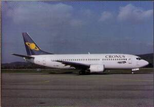 (wgx) Airplane Postcard: Cronus Airlines, Boeing 737-33A