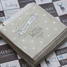 """East Of India piccola fabbrica di sacchetti """"grazie molto"""" X 40 grigio Craft / regali"""