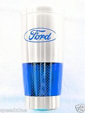 FORD TRAVEL MUG STAINLESS STEEL WITH BLUE CARBON FIBER  SOLD EXCLUSIVELY HERE