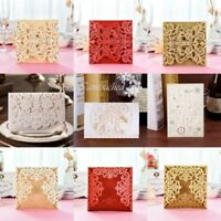Luxury Invitation Cards Lace Laser Cut Wedding Envelopes Supply Seals Stationery