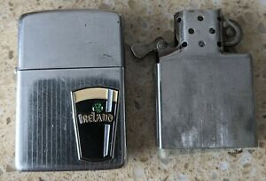 Original Zippo Chrome Lighter - Customised for an Irish / Guinness theme - used