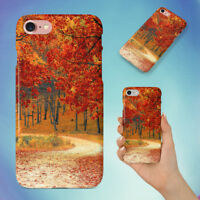 NATURE RED FOREST LEAVES HARD BACK CASE FOR APPLE IPHONE PHONE