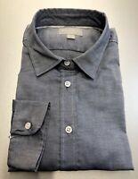 New Size 12 Women's Denim Blue Oxford Cotton Classic Fit Shirt - PURE Collection