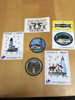 Lot Of 6 MICHIGAN Patches Lighthouses Whitefish Point Tahquamenon Falls Mackinac