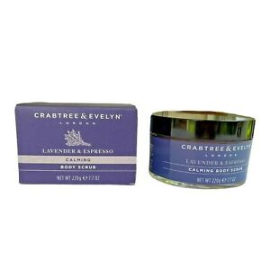 Crabtree & Evelyn  Lavender & Espresso Calming Body Scrub-7.7 OZ NIB!