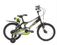 """Bicicletta bambino bimbo Spider ruote """"14 verde / nera 1 velocità  BRERA VERTEK"""