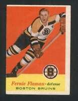1957-58 Topps #4 Fern Flaman VGEX Bruins 108342